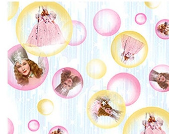 Wizard of Oz Fabric  - Glinda the Good Witch Bubbles - Over the Rainbow  - Out Of Print OOP VHTF