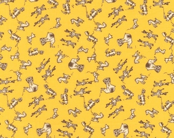 Aunt Grace Circus in Yellow - Circua Big Top Retro 30's Vintage Reproduction Fabric - Out Of Print HTF
