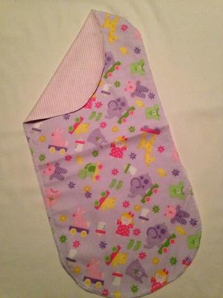 Girl Toys Handmade Flannel Baby burp rags