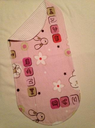 Baby Girl Handmade Flannel Baby burp rags