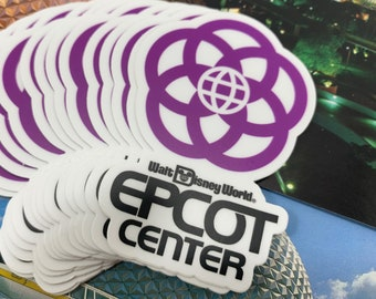 Epcot Center Walt Disney World - Logo Die Cut Vinyl Sticker - Retrocot Original