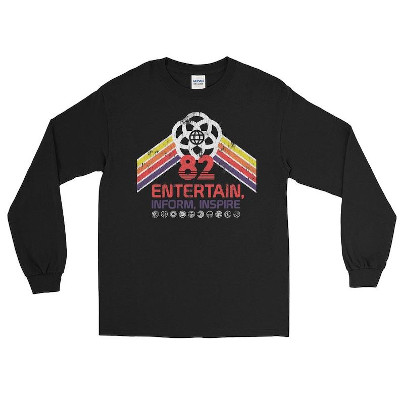 EPCOT Center Retro Disney World Long Sleeve Shirt with Future image 0