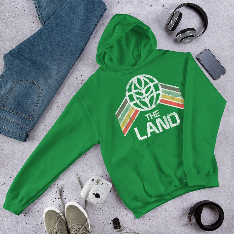 The Land Sweatshirt with Pavilion Logo and Green Yellow and image 0