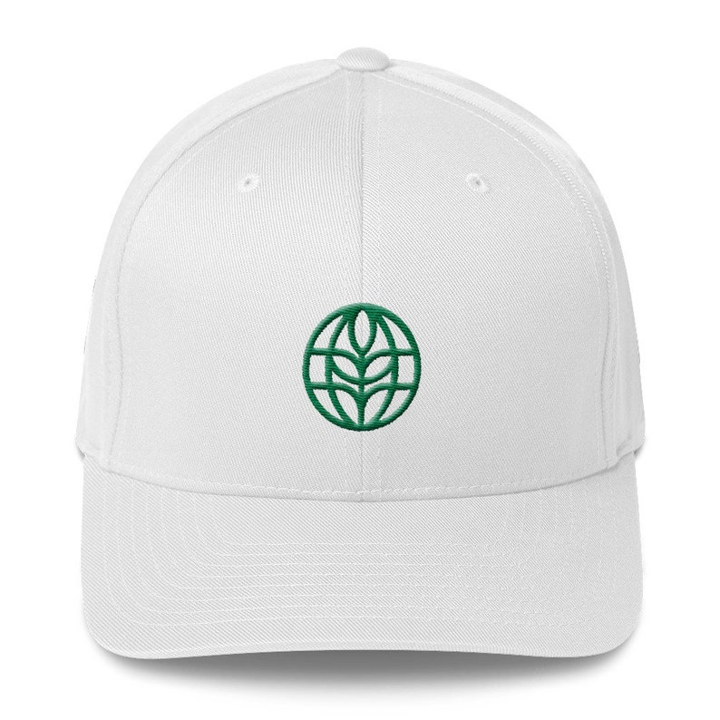 The Land Logo Hat  EPCOT Center Pavilion Logo on Wool Blend White