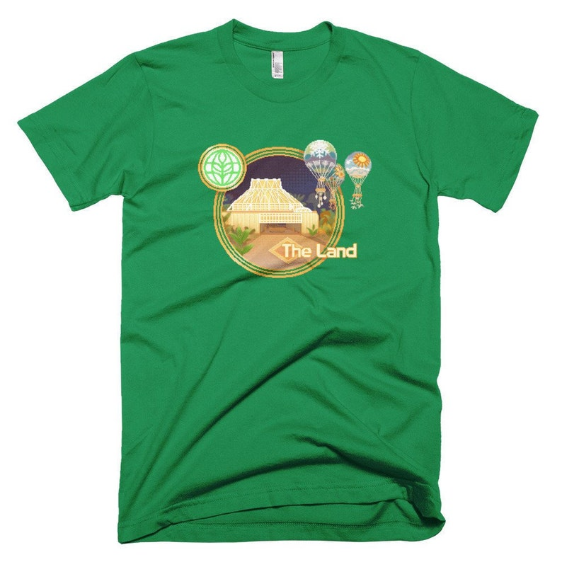 The Land EPCOT Pixelated T-Shirt with The Land Pavilion The image 0
