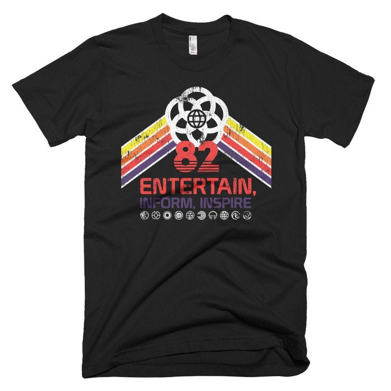 EPCOT Center Retro Disney World Shirt with Future World Black