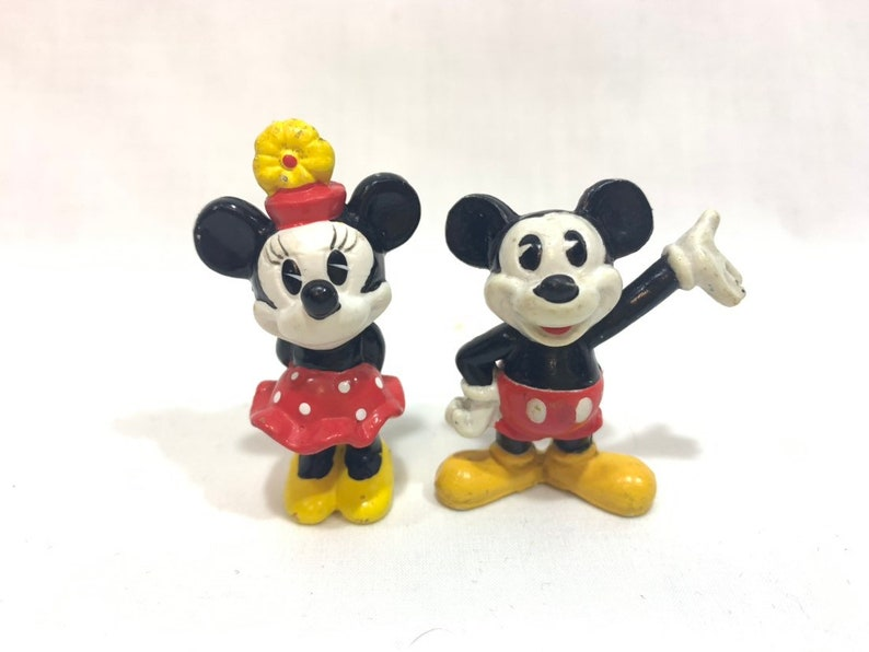 Pie Eyed Mickey Mouse and Minnie Mouse PVC Figure Figurines image 0