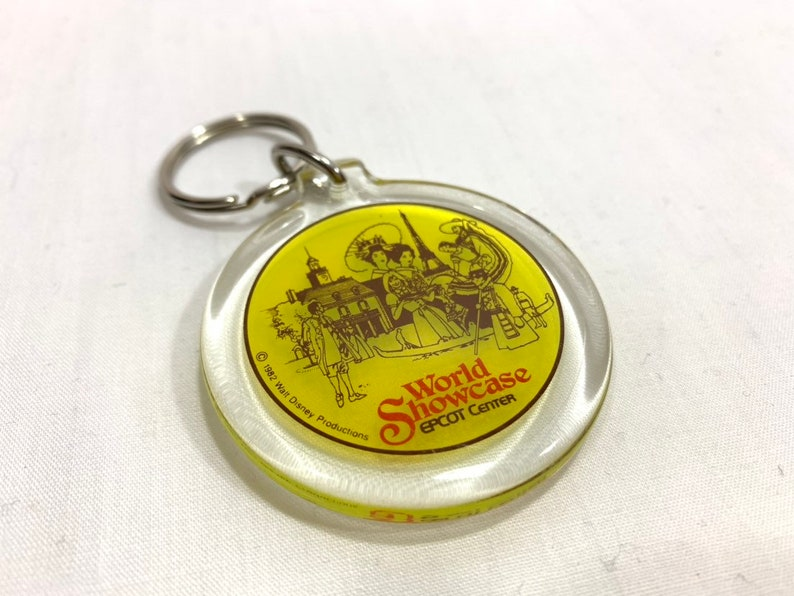 EPCOT Center World Showcase Key Chain  Made of Lucite  image 0