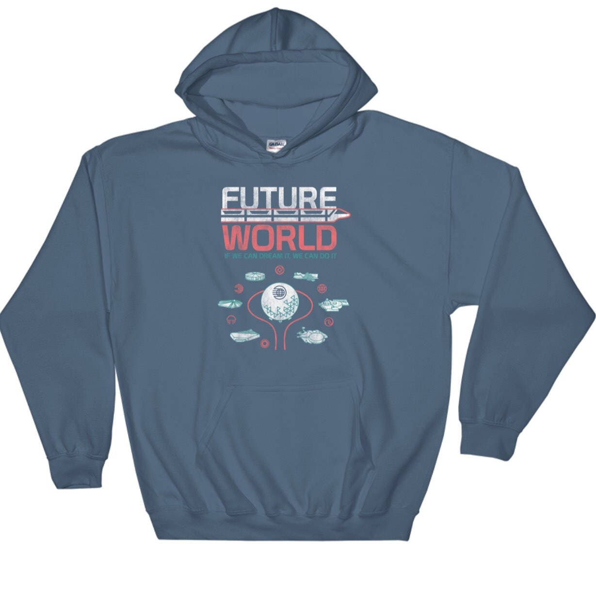 Epcot Future World Map Hoodie Including Classic Attractions Etsy