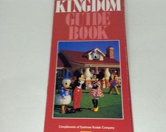 Rare 1989 Disney Magic Kingdom Park Map from Walt Disney World Resort - Theme Park Guidebook Souvenir Guide Brochure