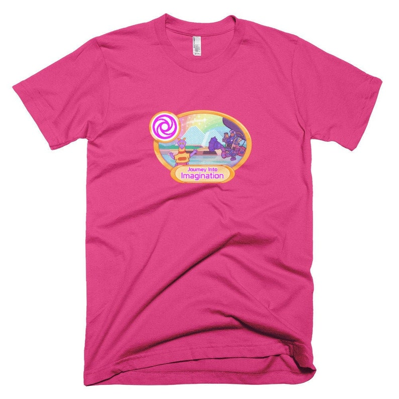 Journey Into Imagination Pixel Art Shirt  EPCOT Center Fuchsia