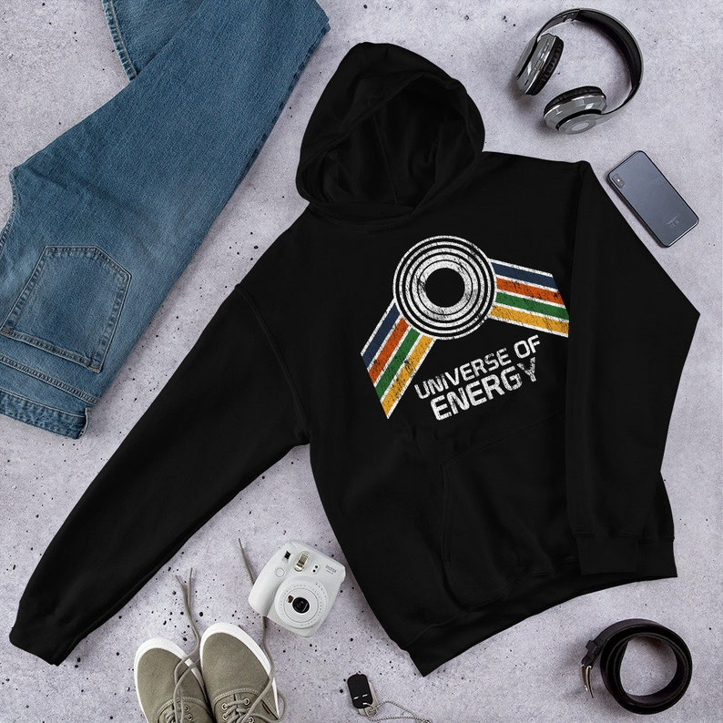 Universe of Energy Hoodie with Blue Orange Green and Yellow image 0