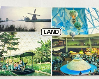 EPCOT Center Postcards - Vintage The Land Postcard with Classic EPCOT Park Scenes from The Land