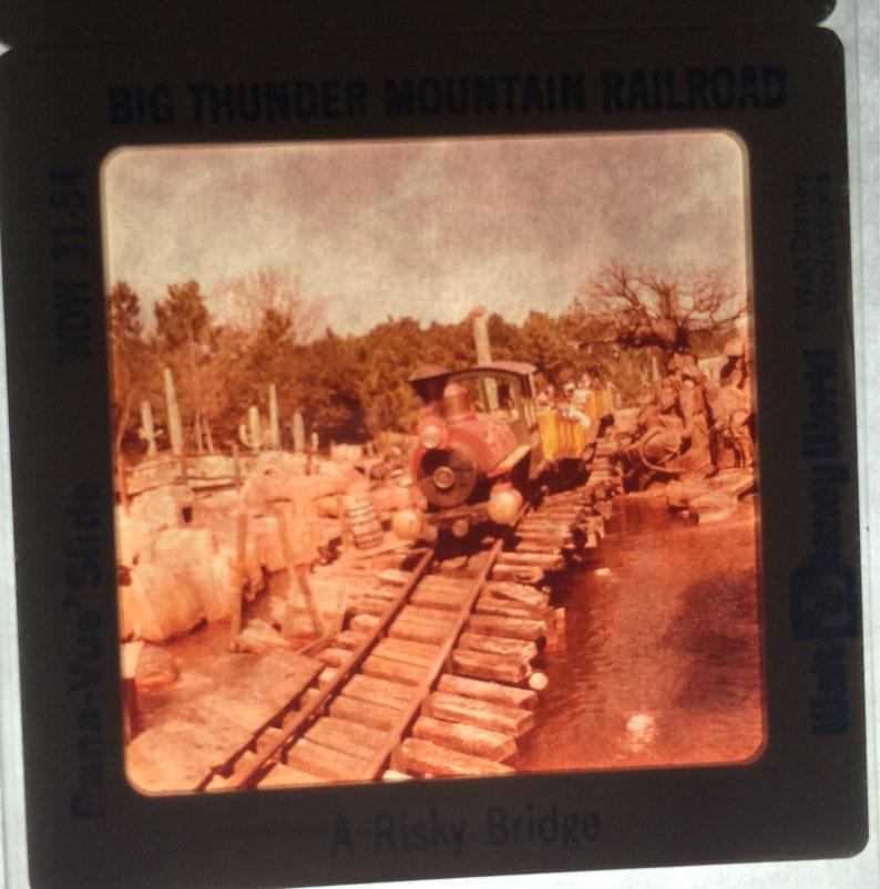 Big Thunder Railroad Pana-Vue Slides Walt Disney World Vintage Disneyana New in Package Set of 5 Five
