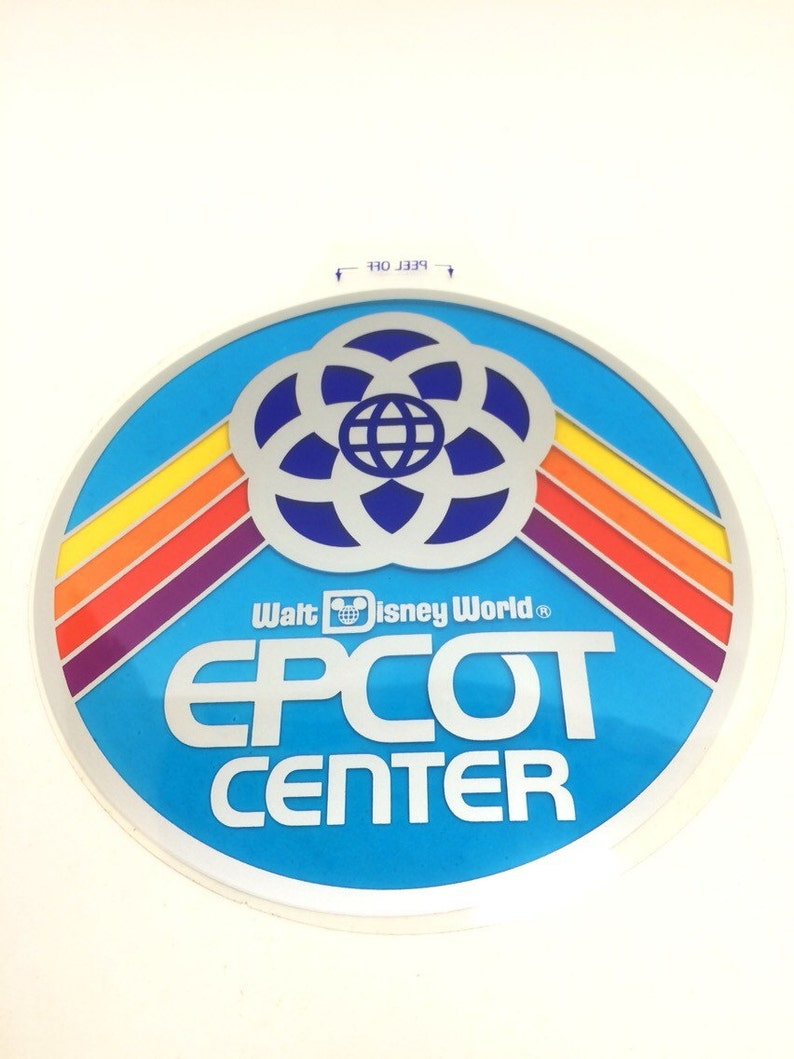 Epcot Center Vinyl Window Cling/Sticker Vintage 1982 from Walt image 0