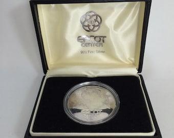 1982 Disney Epcot Center 1oz .999 Silver 1 oz Coin with Original Box