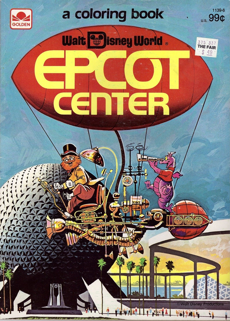 Epcot Center Coloring Book  A Golden Book Published in 1983 image 0