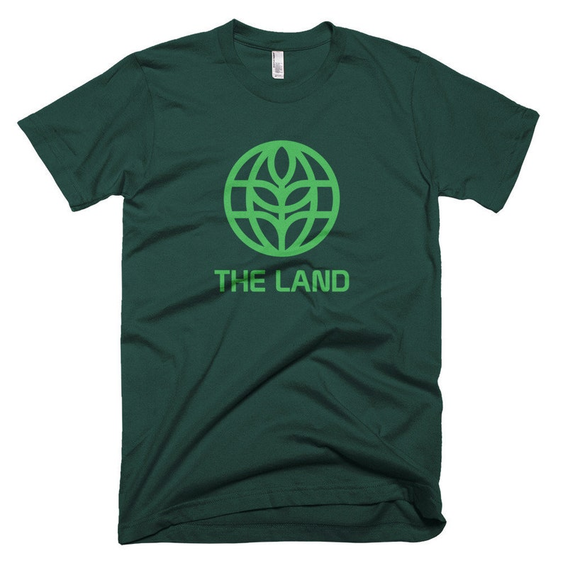 The Land Shirt Retro EPCOT Logo Shirt with Green Logo from Forest