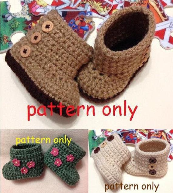 Newborn Crochet Pattern Baby Boots Newborn Pattern Booties Etsy