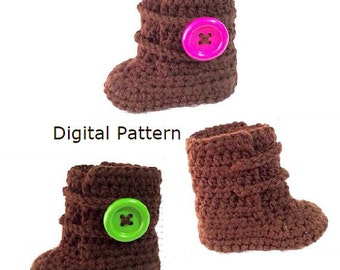 Crochet Pattern Set, Newborn to 12 Months, Baby Boots Pattern, Baby Booties, Baby Shoes Pattern, pattern for baby. PDF Digital Download.