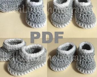 Preemie Crochet Pattern, Baby Booties Pattern, Baby Boy Shoes, Baby Loafers Pattern, Crochet Pattern for Baby. PDF Digital Download.