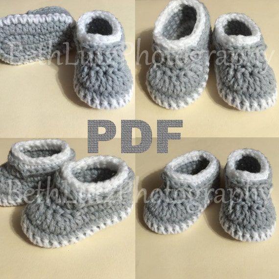 Preemie Crochet Pattern Baby Booties Pattern Baby Boy Shoes Etsy Enchanting Preemie Crochet Patterns