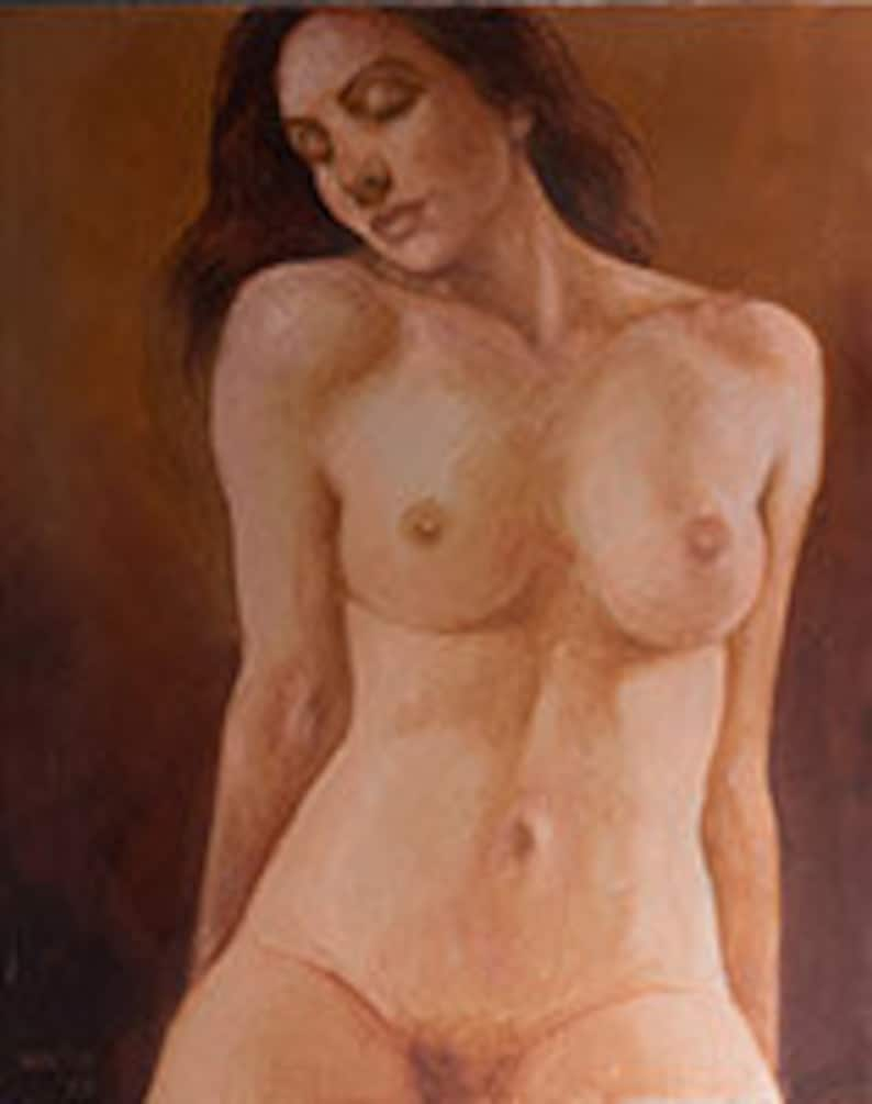 Glory  Nude Woman Oil Painting 16 x 20 image 0