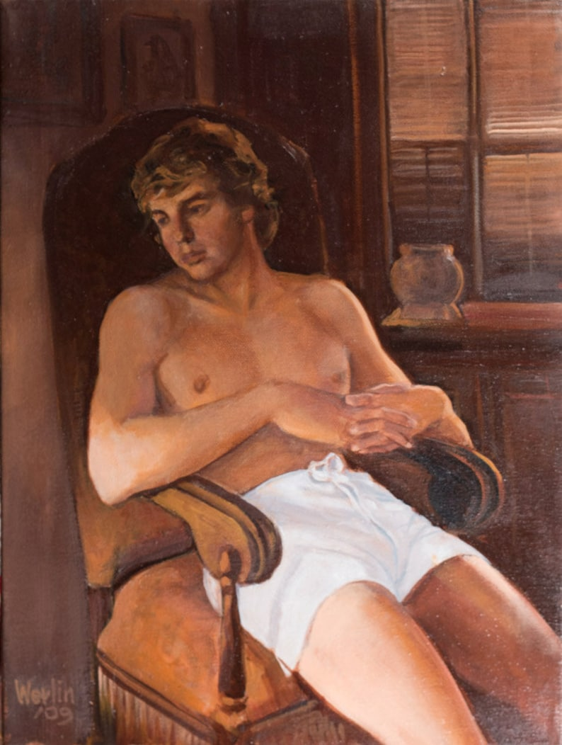 Rod  Young Male Oil Painting  12 x 16 image 0
