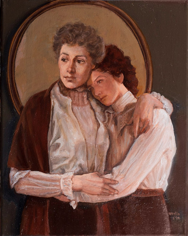 The Bostonians  Oil Painting of Women Together  11 x image 0