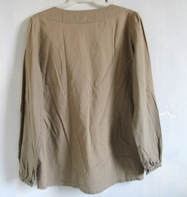 90s Cotton Folk Blouse Embroidery Tunic Embroidered Soft Tunic Dress  Folk Ethnic Festival Hippie Boho Shirt