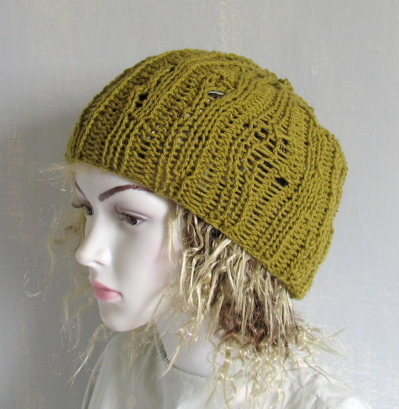 Womans Mens Summer Hat Accessories Beanie Mesh Hat Crochet Etsy