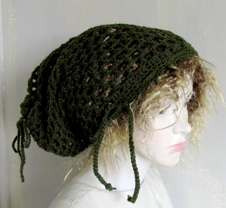 Women Men Crochet Dread Tam Mesh Wrap Hat Rasta Mesh Hat Vegan Etsy