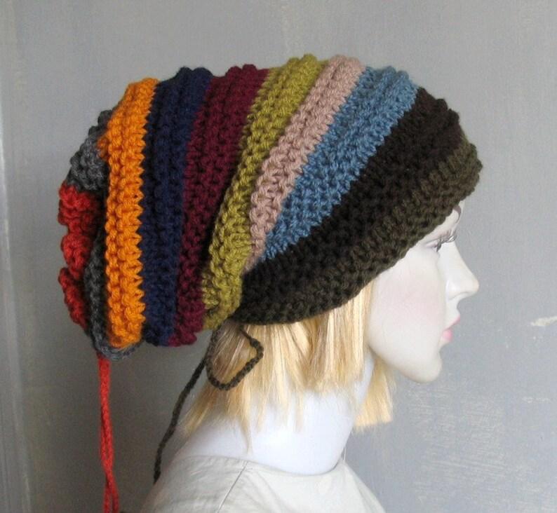 b4e35b80 Men Women Black Slouchy Beanie Dreadlock Tam Winter Beanie Hat For Dreads  Wrap Black Winter Hat Oversized Hat in Black Hat