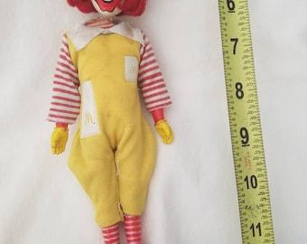 Vintage Ronald McDonald doll 1976 McDonalds