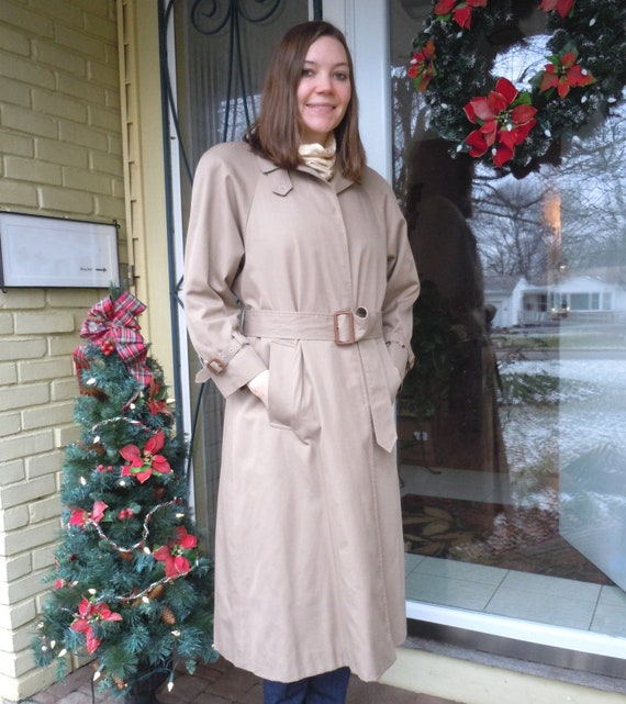 ON SALE, 20% OFF, Vintage, 1980's Trench Raincoat,