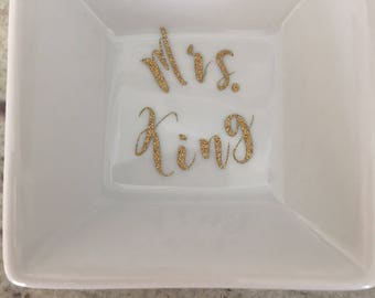 Mrs. {personalized} Ring Dish