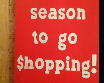 Tis the season to go shopping