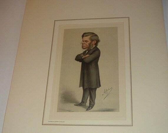 Petrolagar Thomas Henry Huxley Caricature Print