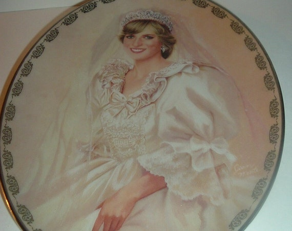 Princess Diana Wedding Bride First Issue Plate