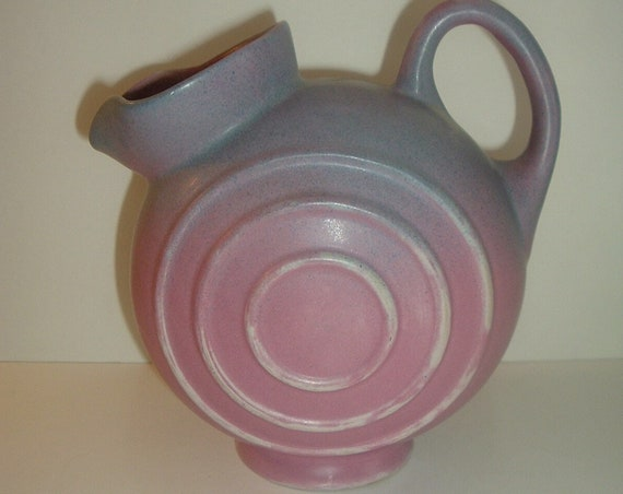 Art Pottery Disc Pitcher