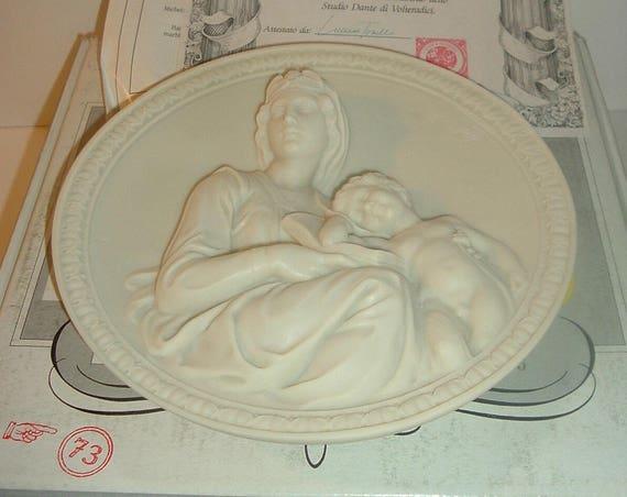 1991 Studio Dante di Volteradici Michelangelos Madonna Plate w COA Box