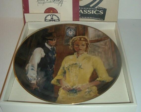 High Noon Cinema Classics Plate Limited Edition w Box COA
