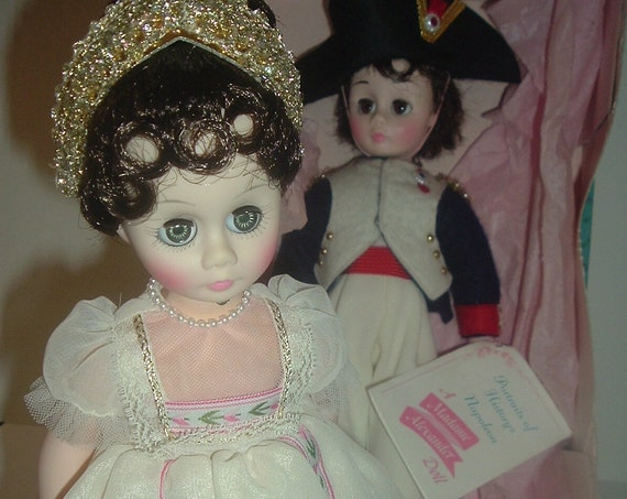 Madame Alexander Napoleon and Josephine Dolls in Boxes Vintage