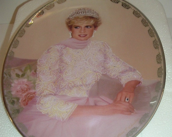 Princess Diana Plate Queen of Hearts Princess To The World w/ Box 1998