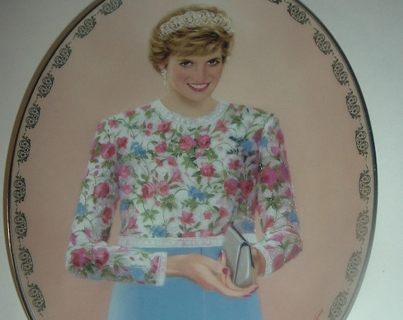 1997 Diana Queen of Our Hearts A True Princess Plate