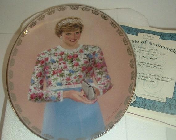 Princess Diana Plate Queen of Hearts A True Princess w/ Box & COA 1998