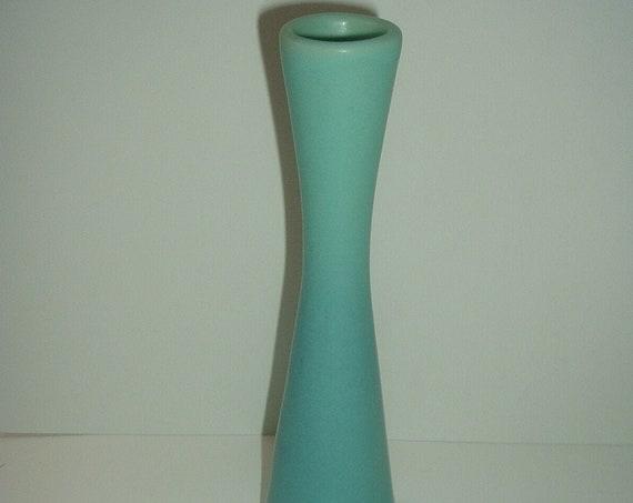 """Van Briggle Turquoise Blue 9.25"""" Tall Bud Vase Art Pottery"""