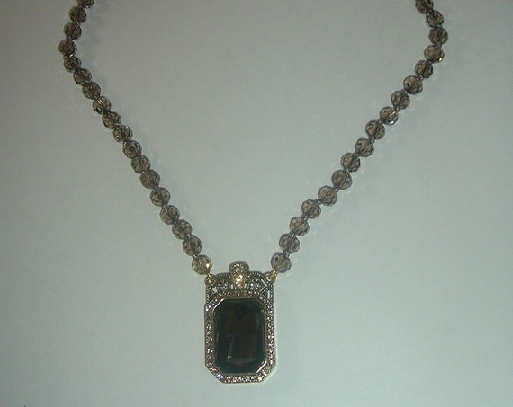 Heidi Daus Crystal Choker Necklace with Large Pendant