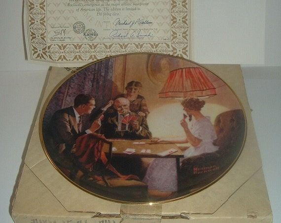 Norman Rockwell The Room That Light Made Plate Light Campaign Series 1st Issue 1983 w/ Box & COA