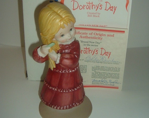 Dorothys Day Brand New Day Girl Figurine 1980's with Box COA